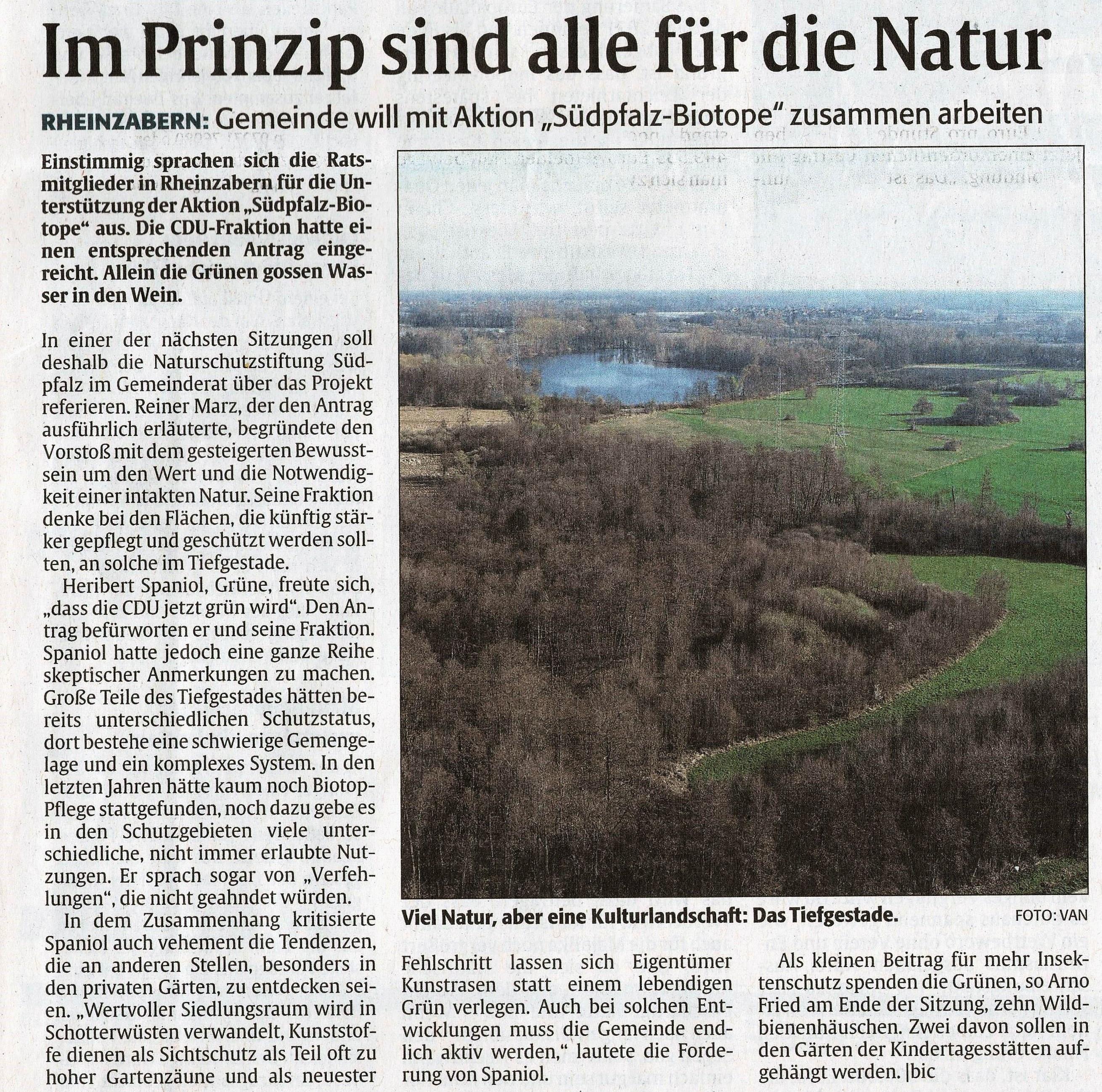 RHEINPFALZ-Artikel