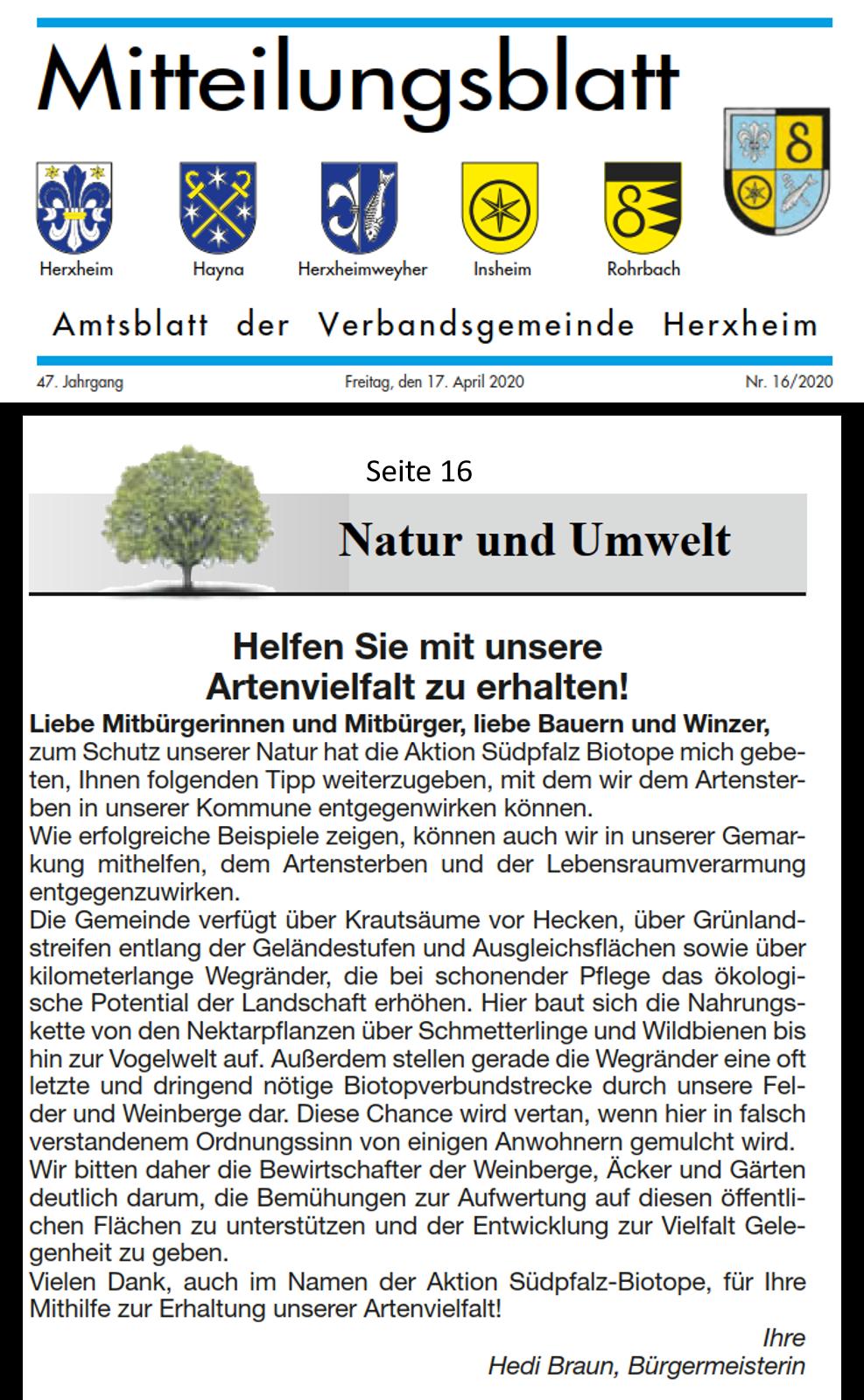 Amtsblatt Herxheim